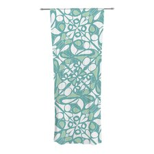 Swirling Tiles Curtain Panels (Set of 2)