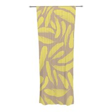 Yellow Feather Curtain Panels (Set of 2)