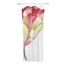 Red Tip Tulip Curtain Panels (Set of 2)