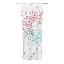 Rainbow Hearts Curtain Panels (Set of 2)