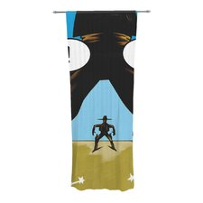 Quick-witted Cowboy Curtain Panels (Set of 2)