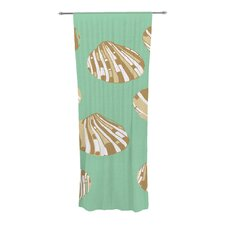 Scallop Shells Curtain Panels (Set of 2)