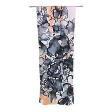 Inky Bouquet Curtain Panels (Set of 2)