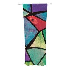 Stain Glass 1 Curtain Panels (Set of 2)