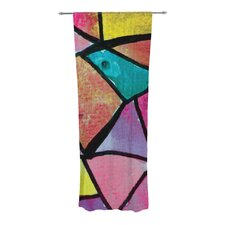 Stain Glass 3 Curtain Panels (Set of 2)