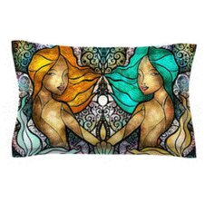 Mermaid Twins by Mandie Manzano Woven Pillow Sham