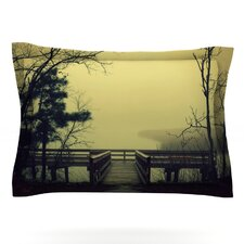 Fog on the River by Robin Dickinson Woven Pillow Sham