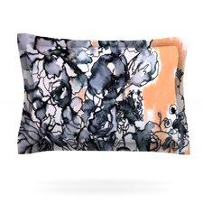 Inky Bouquet by Sonal Nathwani Woven Pillow Sham