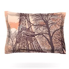 Eiffel Tower by Sam Posnick Woven Pillow Sham