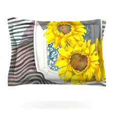 Finall Sunflower by S. Seema Z Woven Pillow Sham