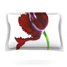 Dark Purple Tulip by Lydia Martin Woven Pillow Sham