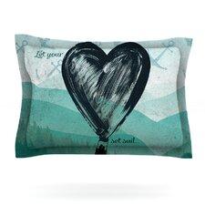 Heart Set Sail by Nick Atkinson Woven Pillow Sham