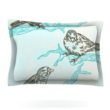 Birds in Trees by Sam Posnick Woven Pillow Sham