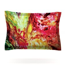 Passion Flowers I by Mary Bateman Woven Pillow Sham