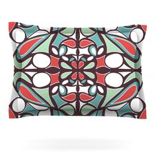 Brown Round Tiles by Miranda Mol Woven Pillow Sham