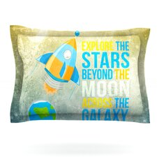 Explore the stars by Nick Atkinson Woven Pillow Sham
