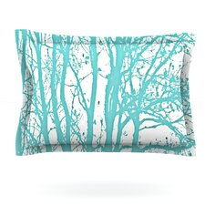 Mint Trees by Monika Strigel Woven Pillow Sham