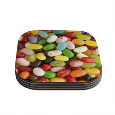 I Want Jelly Beans by Libertad Leal Coaster (Set of 4)