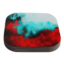 Painted Clouds III by Caleb Troy Coaster (Set of 4)