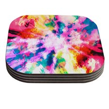Technicolor Clouds by Caleb Troy Coaster (Set of 4)