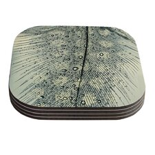 Feather Light by Ingrid Beddoes Coaster (Set of 4)