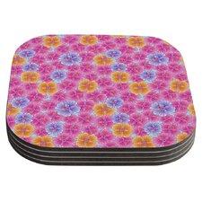 My Pink Garden by Julia Grifol Coaster (Set of 4)