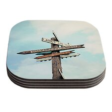 Love Shack by Sylvia Cook Coaster (Set of 4)