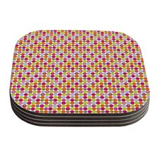 Happy Circles by Julia Grifol Coaster (Set of 4)