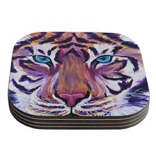 Tiger by Brienne Jepkema Coaster (Set of 4)