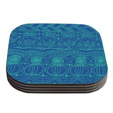 Beach Blanket Confusion by Catherine Holcombe Coaster (Set of 4)