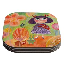 Flowerland by Marianna Tankelevich Coaster (Set of 4)