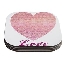 Love by Pom Graphic Design Coaster (Set of 4)