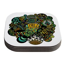 Multicolor Life by Pom Graphic Design Coaster (Set of 4)