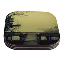 Fog on the River by Robin Dickinson Coaster (Set of 4)