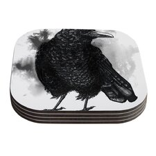 Crow by Sophy Tuttle Coaster (Set of 4)