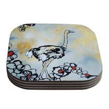 Ostrich by Sonal Nathwani Coaster (Set of 4)
