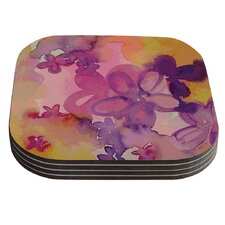 Dissolved Flowers by Louise Machado Coaster (Set of 4)