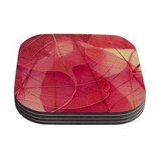 Delicate Leaves by Ingrid Beddoes Coaster (Set of 4)