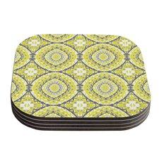 Yellow Tessellation by Miranda Mol Coaster (Set of 4)