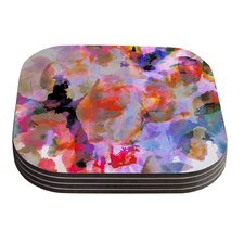 Painterly Blush by Nikki Strange Coaster (Set of 4)