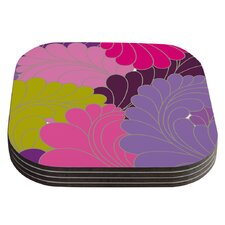 Moroccan Leaves by Nicole Ketchum Coaster (Set of 4)