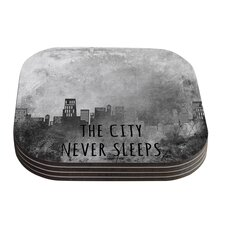 The City Never Sleeps by Alison Coxon Coaster (Set of 4)