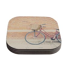 Bicycle by Laura Evans Coaster (Set of 4)