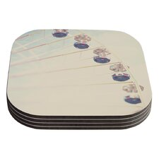 It's All A Blur by Laura Evans Ferris Wheel Coaster (Set of 4)
