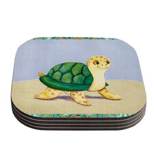 Slow And Steady by Padgett Mason Coaster (Set of 4)