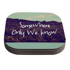 Somewhere by Rachel Burbee Coaster (Set of 4)