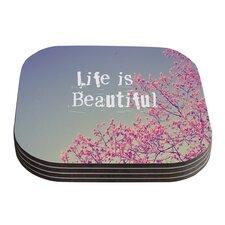 Life Is Beautiful by Rachel Burbee Coaster (Set of 4)
