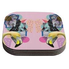 Flamingo Tropical by Vasare Nar Coaster (Set of 4)