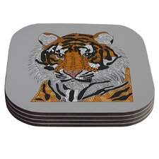 Tiger by Art Love Passion Coaster (Set of 4)