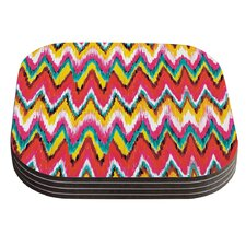 Painted Chevron by Aimee St. Hill Coaster (Set of 4)